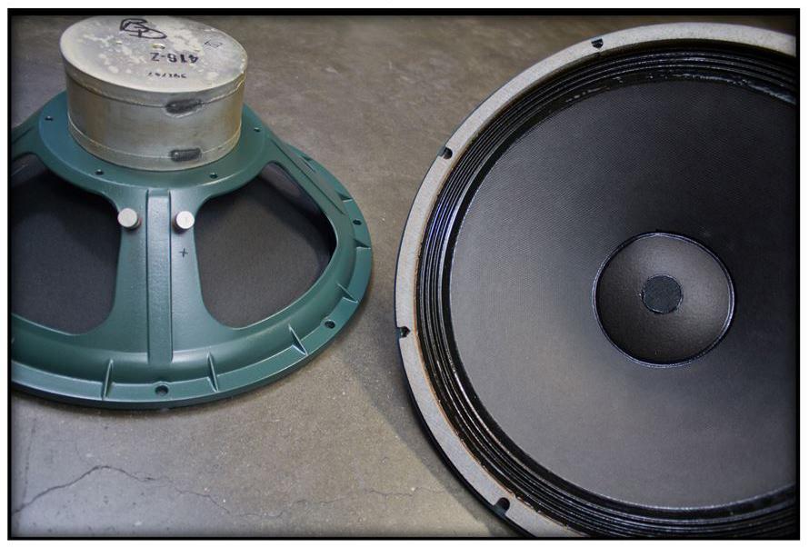 ALTEC 9845 Monitor Speaker System ◇ アルテック 初期グリーン (416z / 806A / 500G) 16Ω ◇10