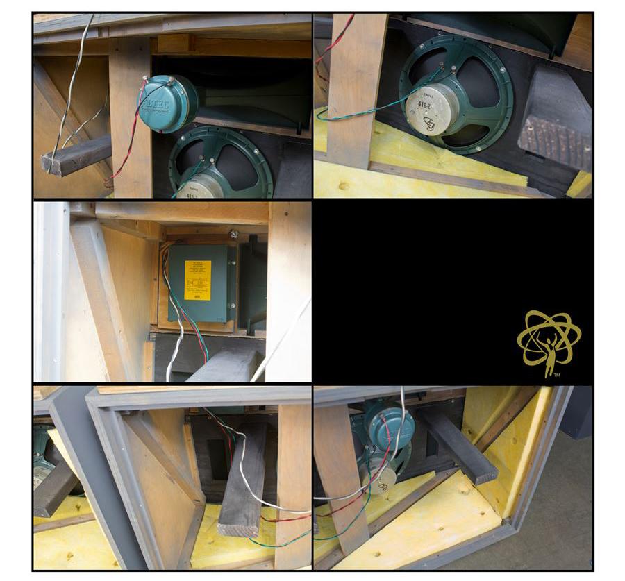 ALTEC 9845 Monitor Speaker System ◇ アルテック 初期グリーン (416z / 806A / 500G) 16Ω ◇14