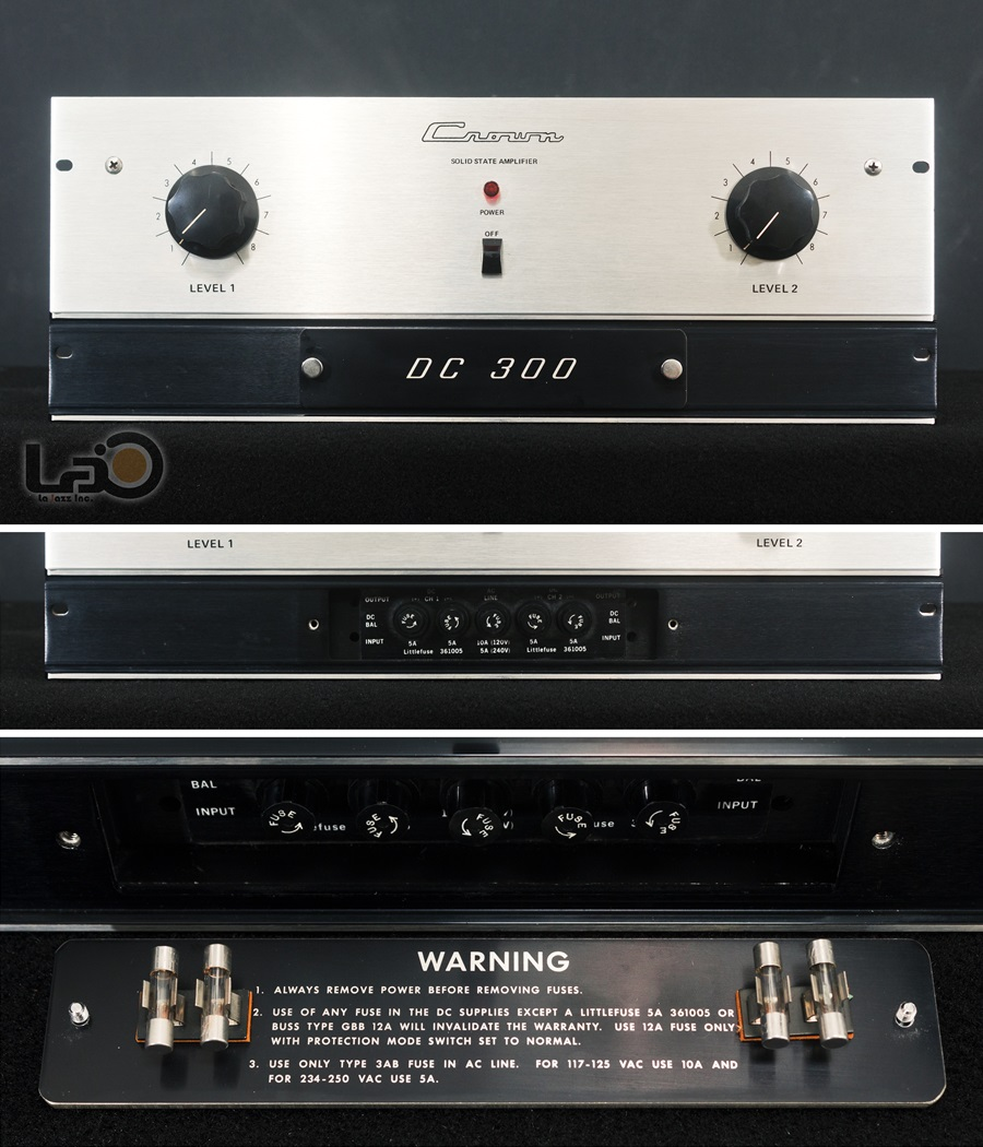 Crown DC300 Solid State Amplifier ◇ クラウン ステレオパワーアンプ  ◇10