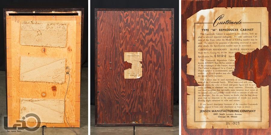 "JENSEN Type ""M"" Reproducer Cabinet + Type H HNP-51 ◇ ジェンセン キャビネット + 同軸2WAY SPEAKER ◇13"