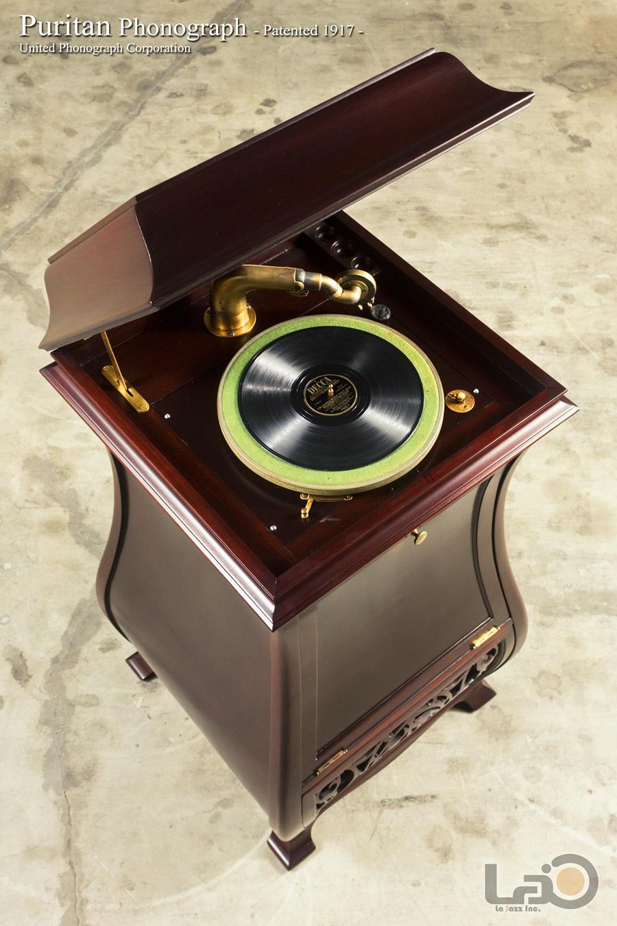 - PURITAN – PHONOGRAPH ◇ ピューリタン 1917年製SPレコード用蓄音器 ◇2