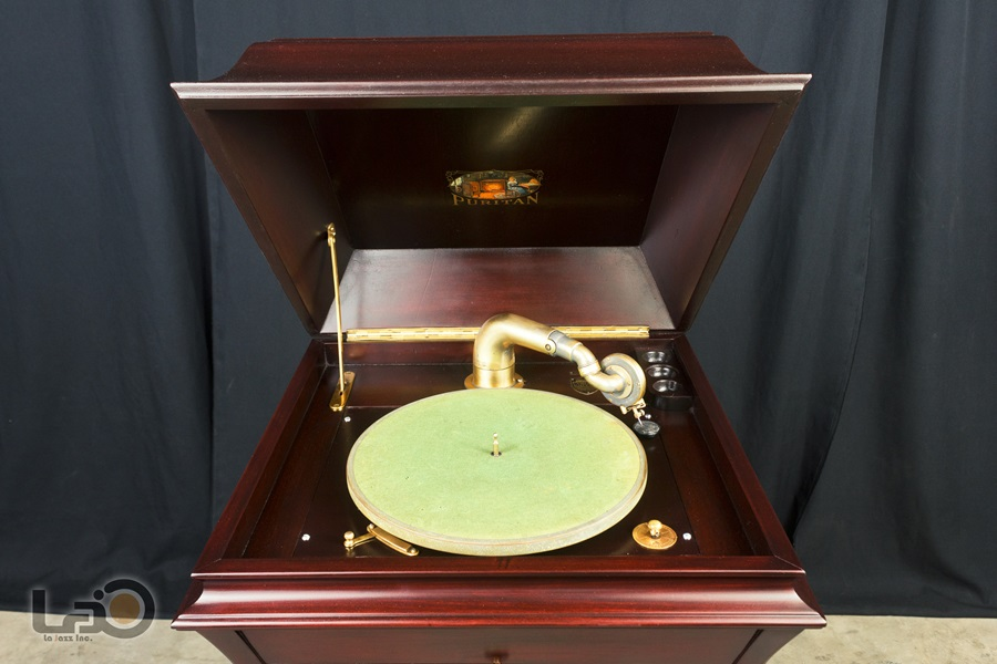 - PURITAN – PHONOGRAPH ◇ ピューリタン 1917年製SPレコード用蓄音器 ◇5