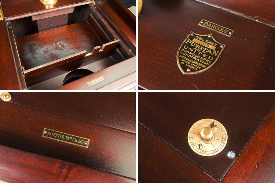 - PURITAN – PHONOGRAPH ◇ ピューリタン 1917年製SPレコード用蓄音器 ◇13