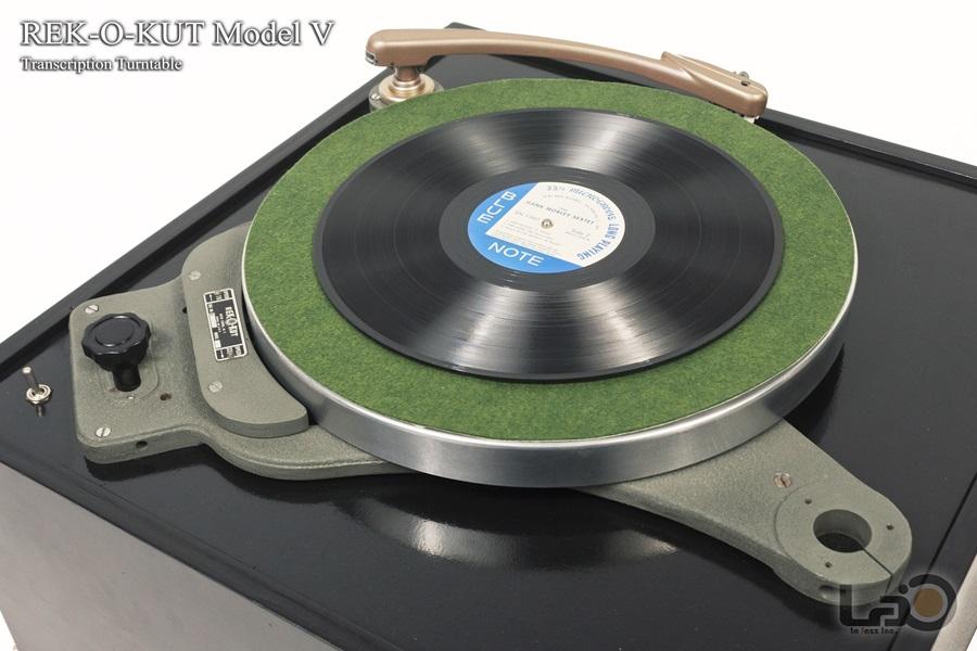 REK-O-KUT Model V Turntable ◇ アイドラー・ドライブ・ターンテーブル 33/45回転 ◇