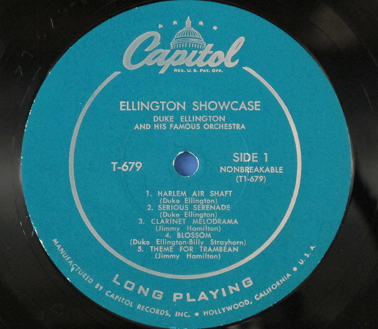 ◆DUKE ELLINGTON/JIMMY WOOD他◆CAPITOL 米深溝 MONOターコイズ3