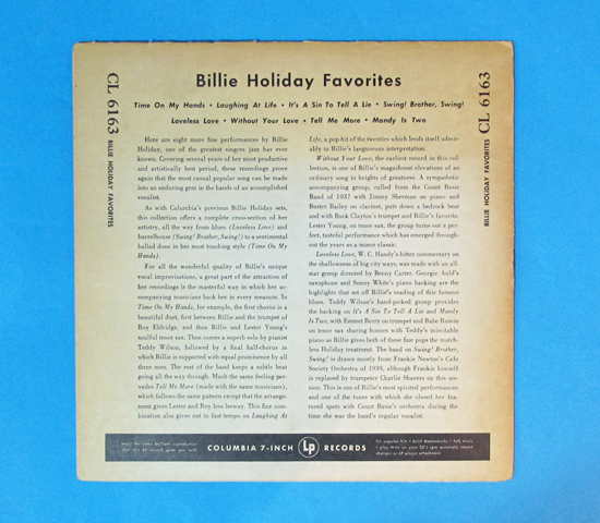 価格応談◆BILLIE HOLIDAY FAVORITES◆COLUMBIA 米深溝2