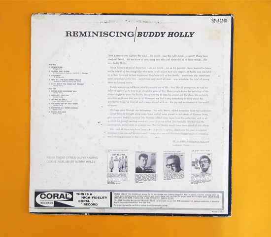 価格応談◆BUDDY HOLLY / REMINISCING ◆CORAL 米2