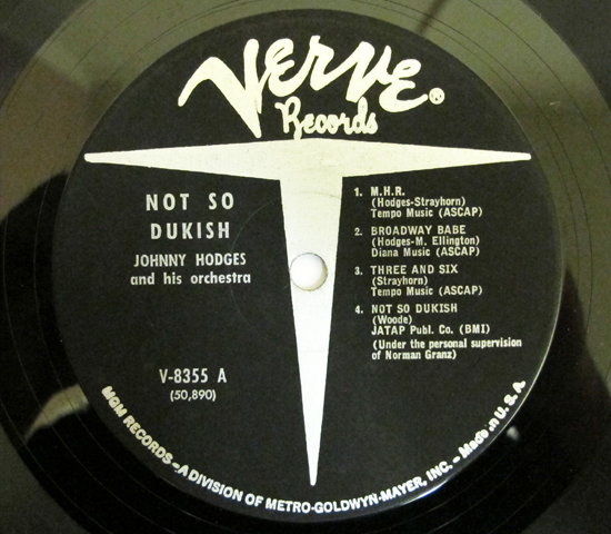 価格応談◆JOHNNY HODGES AND HIS ORCHESTRA ◆VERVE 米3
