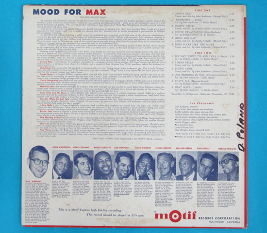 価格応談◆MAX ALBRIGHT,BUDDY COLLETTE他◆MOTIF RECORDS米深溝3
