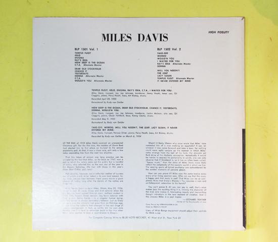 価格応談◆MILES DAVIS◆BLUE NOTE 63rd RVG刻印 米深溝2