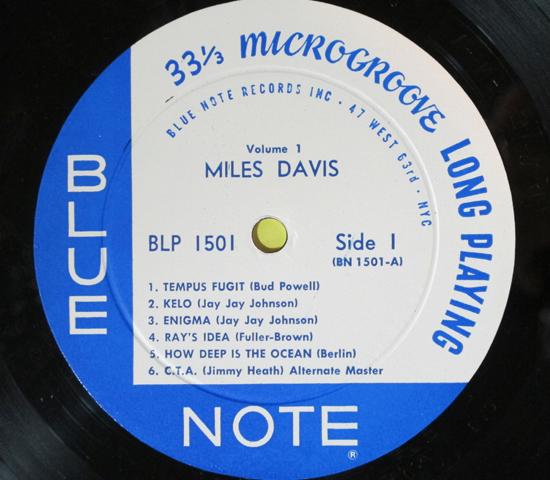 価格応談◆MILES DAVIS◆BLUE NOTE 63rd RVG刻印 米深溝3