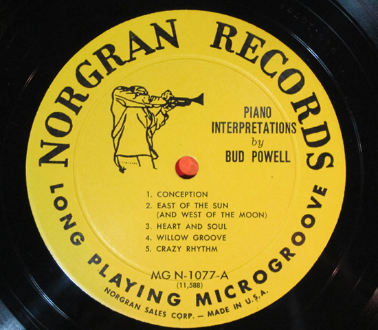 価格応談◆BUD POWEL◆NORGRAN RECORDS 米深溝3