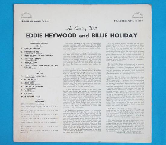 価格応談◆EDDIE HEYWOOD&BILLIE HOLIDAY◆COMMODORE 米深溝2