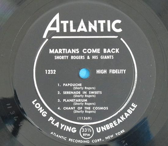 価格応談◆SHORTY ROGERS/MARTIANS COME BACK◆ATLANTIC 米深溝3