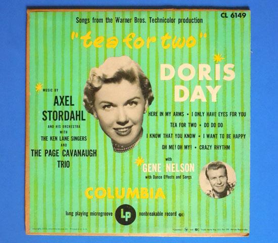 ◆10インチ◆DORIS DAY/TEA FOR TWO◆COLUMBIA 米盤 フラット