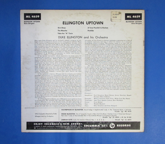 ◆DUKE ELLINGTON/ELLINGTON UPTOWN◆6EYES 米深溝2