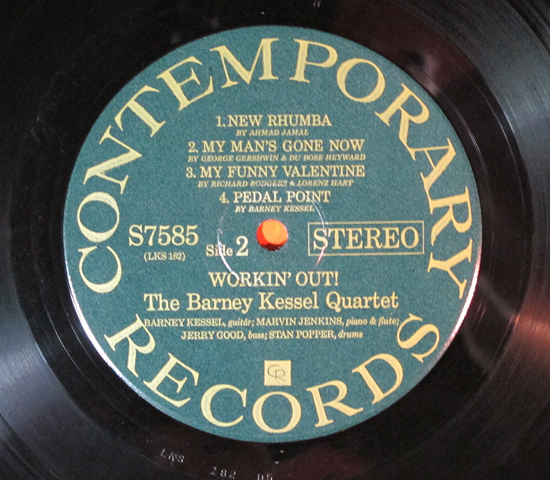 価格応談◆BARNEY KESSEL QUARTET◆CONTEMPORARY 米深溝3