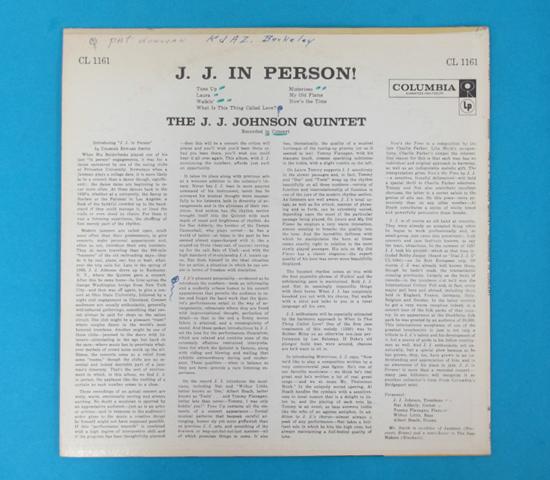 価格応談◆THE J. J. JOHNSON QUINTET◆6 EYES 米深溝2