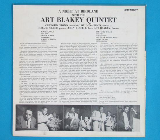 ◆ART BLAKEY&CLIFFORD BROWN 他◆BLUE NOTE 米深溝 手書きRVG耳2