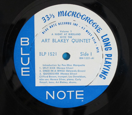 ◆ART BLAKEY&CLIFFORD BROWN 他◆BLUE NOTE 米深溝 手書きRVG耳3