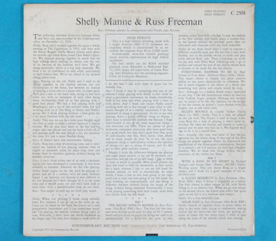 ◆10インチ◆SHELLY MANNE&RUSS FREEMAN◆CONTEMPORARY 米深溝2