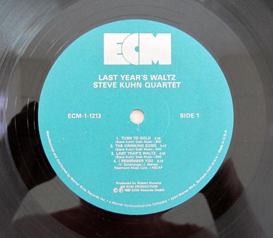 条件を指定 価格応談◆STEVE KUHN/LAST YEAR'S WALTZ ◆ECM 米 プロモ3