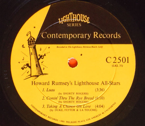 ◆10インチ◆HOWARD RUMSEY'S…..◆CONTEMPORARY 米!深溝3