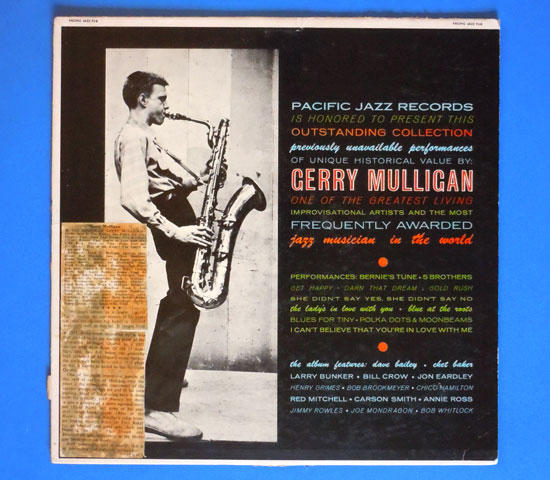 ◆GERRY MULLIGAN/THE GENIUS OF….◆PACIFIC JAZZ 米!深溝