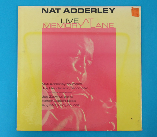 価格応談◆NAT ADDERLEY◆ATLANTIC RECORDS 米深溝 MONO 見開き2