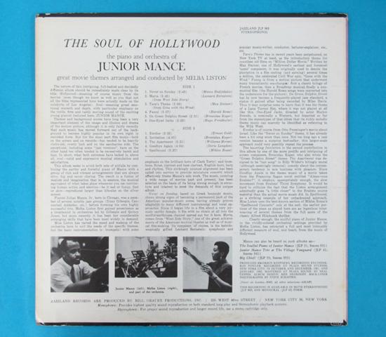 価格応談◆JUNIOR MANCE/THE SOUL OF…◆JAZZLAND 米深溝2