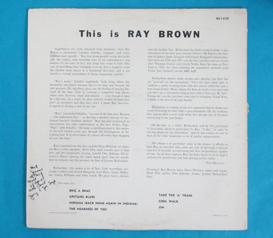価格応談◆THIS IS RAY BROWN◆CLEF トランペット 米深溝2