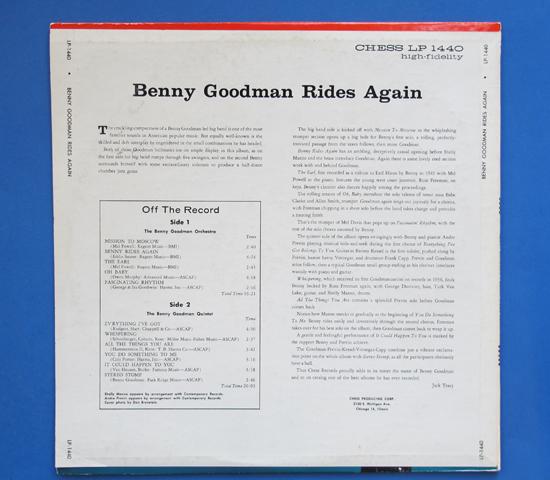 ◆BENNY GOODMAN/BENNY RIDES…◆CHESS PRODUCING 米深溝2