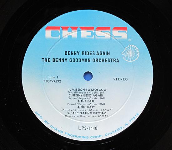 ◆BENNY GOODMAN/BENNY RIDES…◆CHESS PRODUCING 米深溝3
