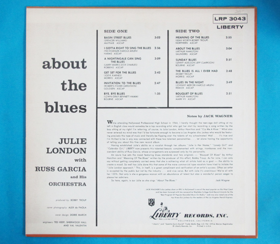 価格応談◆JULIE LONDON◆LIBERTY RECORDS 米深溝2