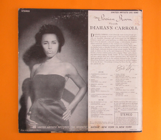 価格応談◆DIAHANN CARROLL ◆UNITED ARTISTS 米 深溝 重量2