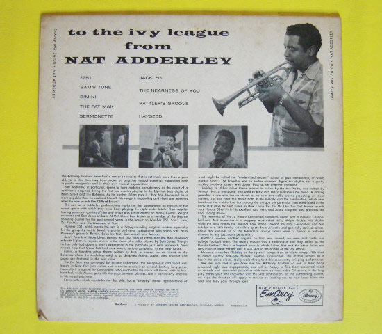 ◆NAT ADDERLEY 他/TO THE IVY LEAGUE◆EMARCY 米!深溝2