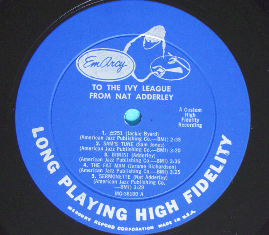 ◆NAT ADDERLEY 他/TO THE IVY LEAGUE◆EMARCY 米!深溝3