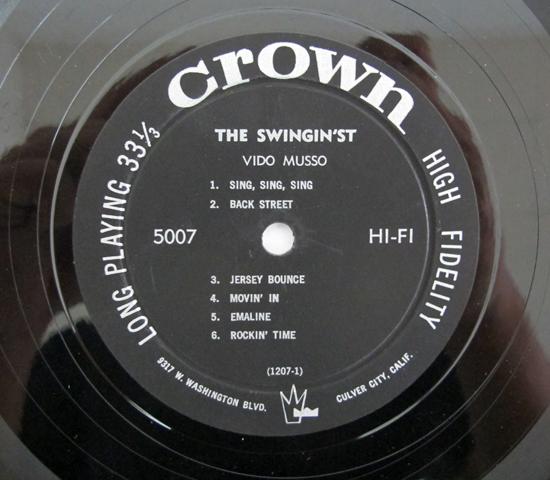 価格応談◆VIDO MUSSO ◆ CROWN RECORDS 米 深溝3