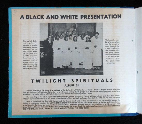 価格応談 ◆SP盤 ◆3枚組 ◆THE McNEIL CHOIR ◆BLACK &WHITE 米2