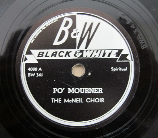 価格応談 ◆SP盤 ◆3枚組 ◆THE McNEIL CHOIR ◆BLACK &WHITE 米3