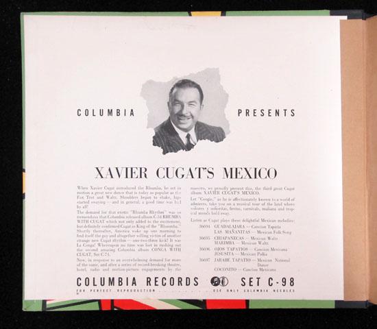 価格応談 ◆SP盤 ◆4枚組 ◆XAVIER CUGAT/MEXICO ◆C0LUMBIA 米2