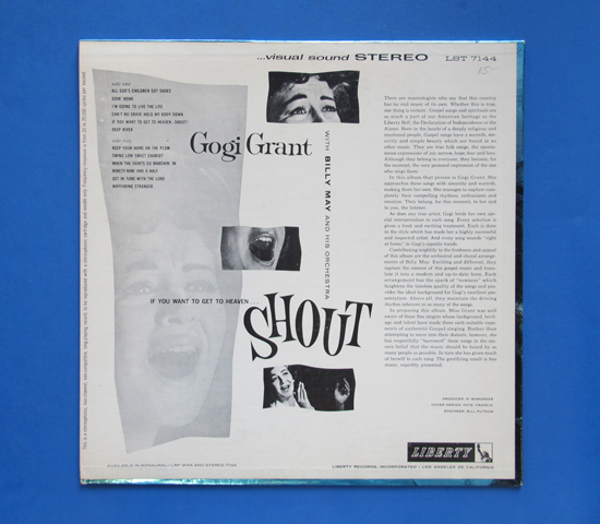 ◆GOGI GRANT & BILLY MAY/SHOUT◆ LIBERTY 米盤2