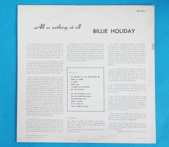 価格応談◆BILLIE HOLIDAY/ALL OR…◆CLEFトランペット 米深溝2