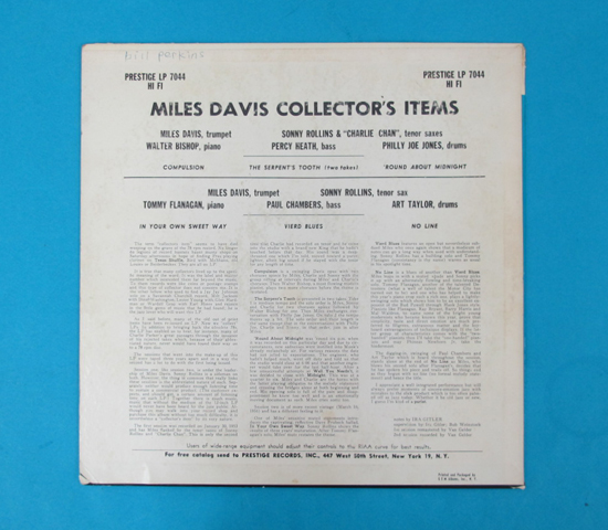 価格応談◆MILES DAVIS◆PRESTIGE 米深溝 RVG手書き2