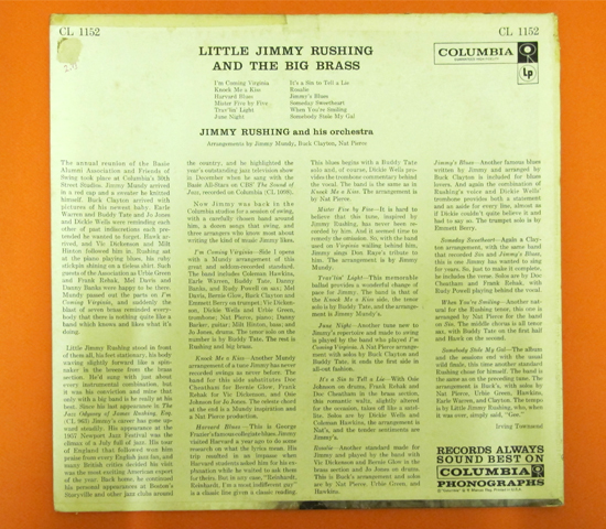 価格応談◆LITTLE JIMMY RUSHING◆ COLUMBIA 米深溝 6EYE2