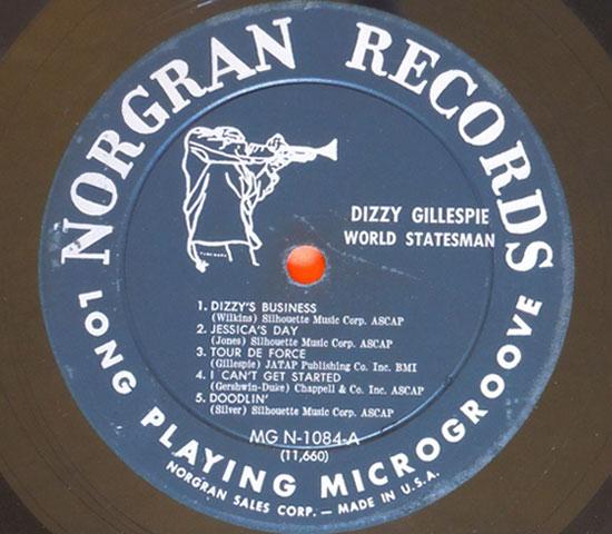 ◆DIZZY GILLESPIE/WORLD…..◆NORGRAN 米!深溝 トランペット 即決価格3