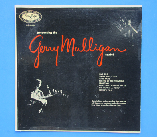 ◆GERRY MULLIGAN & ZOOT SIMS 他◆EMARCY 米深溝