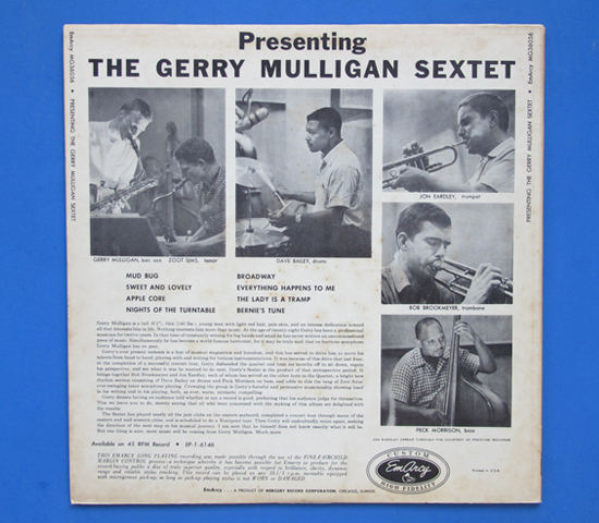 ◆GERRY MULLIGAN & ZOOT SIMS 他◆EMARCY 米深溝2