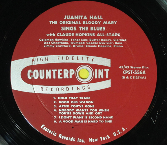 価格応談◆JUANITA HALL◆COUNTERPOINT RECORDS 米深溝3