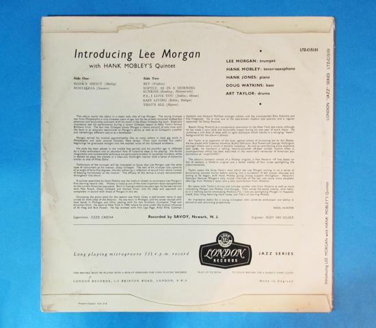 価格応談◆LEE MORGAN 他◆LONDON RECORDS 英深溝 重量 フラット2